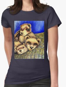 Ferret Layer cake  Womens Fitted T-Shirt