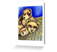 Ferret Layer cake  Greeting Card