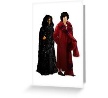 Doctor Who - Fourth Doctor and The Master Greeting Card