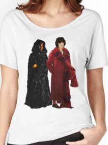 Doctor Who - Fourth Doctor and The Master Women's Relaxed Fit T-Shirt
