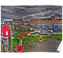 Craster Village Poster