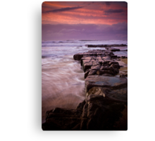 Rocks out to Lady's Surfing Break, Merewether Beach Canvas Print