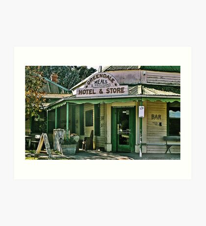 Greendale Hotel Meals and Provisions, Hotel and Store Victoria Art Print