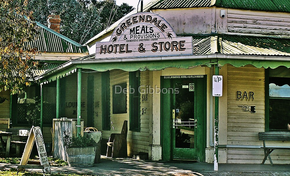 Greendale Hotel Meals and Provisions, Hotel and Store Victoria by Deb Gibbons