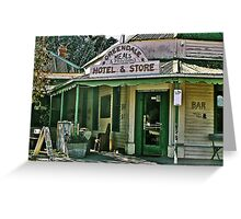 Greendale Hotel Meals and Provisions, Hotel and Store Victoria Greeting Card