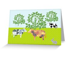 Cows of freedom Greeting Card