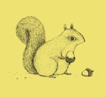 Monochrome Squirrel Kids Tee