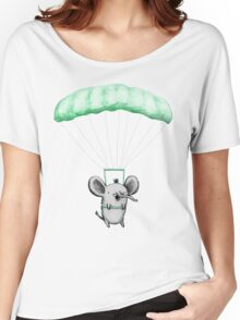 Cutie Parachuting Elephant Women's Relaxed Fit T-Shirt
