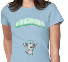Cutie Parachuting Elephant Womens Fitted T-Shirt