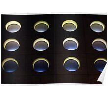 Glowing Spheres Poster