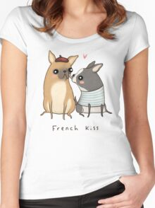 French Kiss Women's Fitted Scoop T-Shirt