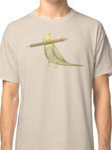 Cockatiel & Pencil Classic T-Shirt