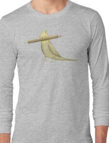 Cockatiel & Pencil Long Sleeve T-Shirt