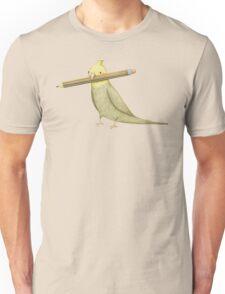 Cockatiel & Pencil Unisex T-Shirt