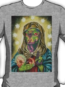 Blessed Reptilian Virgin and Child T-Shirt