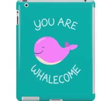 Whale, thank you! - Pink Version iPad Case/Skin