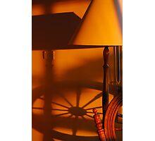 Shadows and lamp Photographic Print