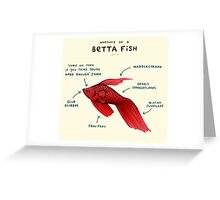 Anatomy of a Betta Fish Greeting Card