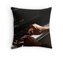 Working the Ivories  Throw Pillow