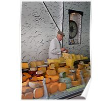 The man & the orange cheese Poster