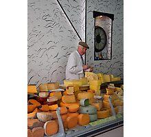The man & the orange cheese Photographic Print