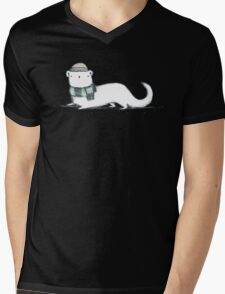 Ermine in Hat & Scarf Mens V-Neck T-Shirt