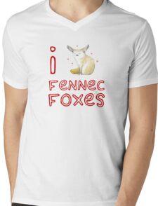 Fennec Fox Love Mens V-Neck T-Shirt