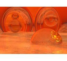 Saharan  Iced Abstract Photographic Print