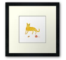 Nice Ginger Cat Framed Print