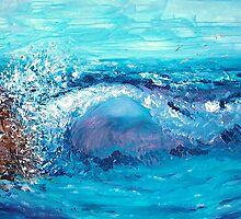 Dad's Ocean by whittyart