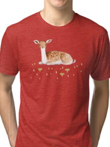 Happy Fallow Deer Tri-blend T-Shirt