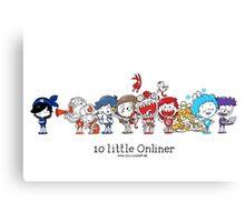10 little Onliner Canvas Print