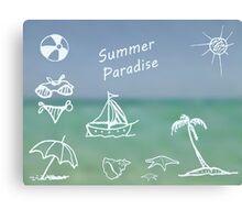 Summer Paradise Canvas Print