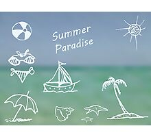 Summer Paradise Photographic Print