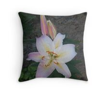 Blossoming lilies Throw Pillow