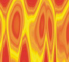 Orange Flames Design by xorbah