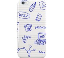Collection of business, doodle sketch objects and elements.  iPhone Case/Skin