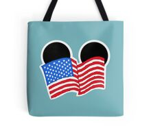 American Flag Ears Tote Bag