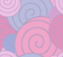 Spiral, pastel background by SunshineArt