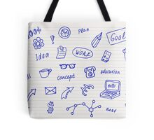 Collection of business, doodle sketch objects and elements.  Tote Bag