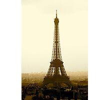 Eiffel in Sepia Photographic Print