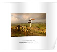 Cleveland Way, Sutton Bank, North Yorkshire Moors Poster