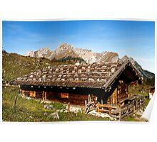 Alpine cottage Poster