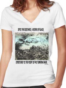 River Of Black Women's Fitted V-Neck T-Shirt