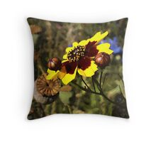 Colored Pencil Poppies Throw Pillow