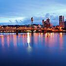 Portland Skyline #2 by Jennifer Hulbert-Hortman