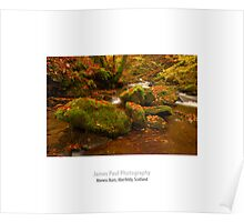 Moness Burn, Aberfeldy, Perthshire, Scotland. Poster