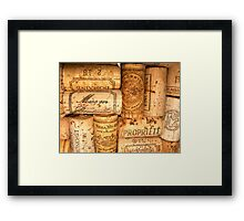 Cork Art Framed Print
