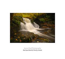 Black Spout Waterfall, Pitlochry, Perthshire, Scotland by James Paul