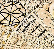 Gold Zentangle by Annalisa Amato